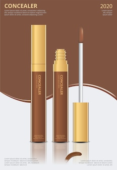 Poster template  concealer with package  illustration