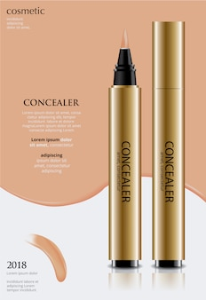 Poster template  concealer with package