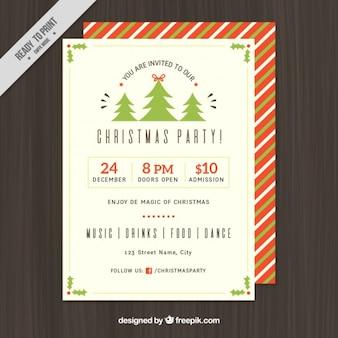 フラットなデザインのクリスマスのためのポスターテンプレート