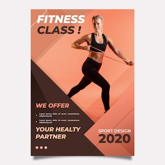 Шаблон постера для спорта с фото