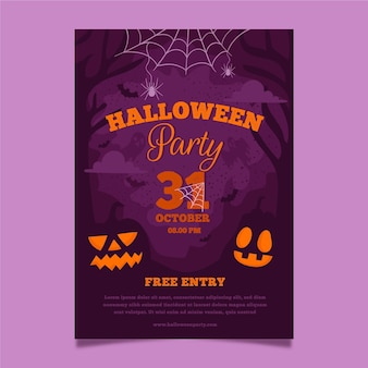 Modello di poster per evento di halloween