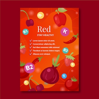 Poster template for healthy food promotion