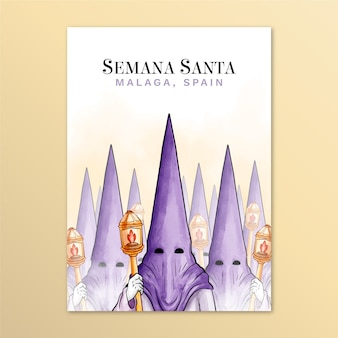 Poster template for holy week