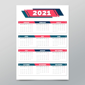 Poster template for new year