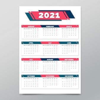 Modello di poster per il nuovo anno