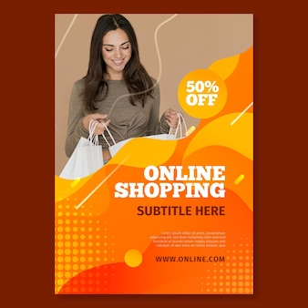 Poster template for online shopping