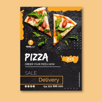 Poster template for pizza restaurant