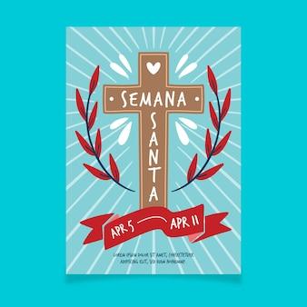 Poster template for semana santa