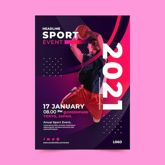 Poster template for sporting event