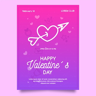 Poster template for valentine day