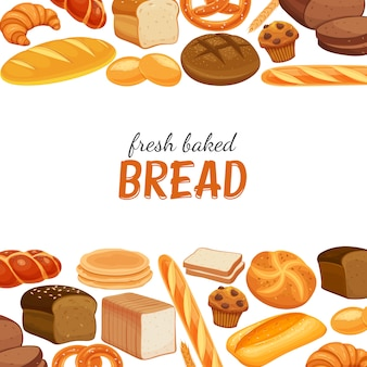 Poster template with bread