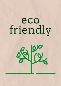 Poster template  with eco friendly text in earth tone