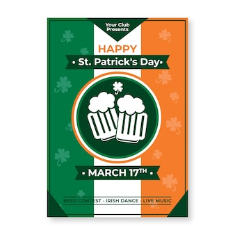 Poster template with st. patricks day theme