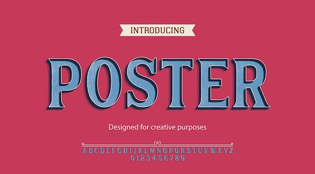 Poster typeface. for creative purposes