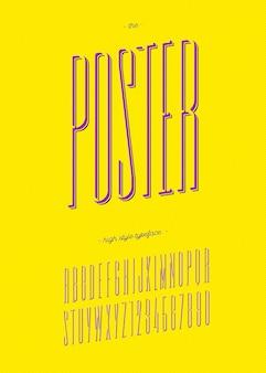 Постер шрифт модный красочный стиль