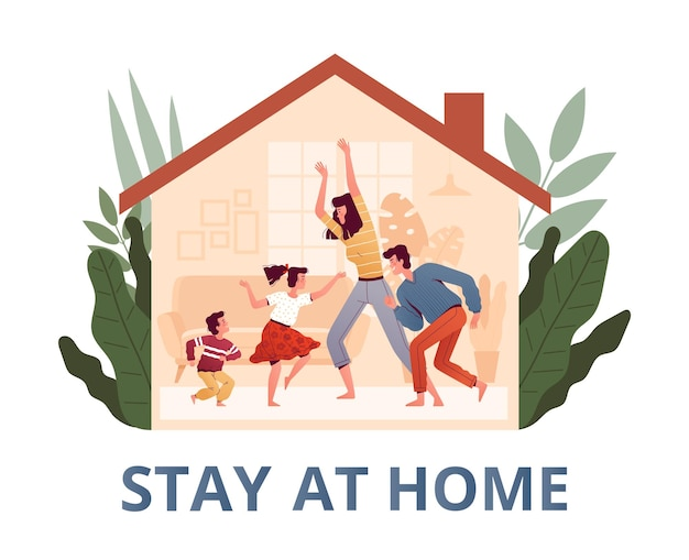 Poster urging you to stay home to protect yourself