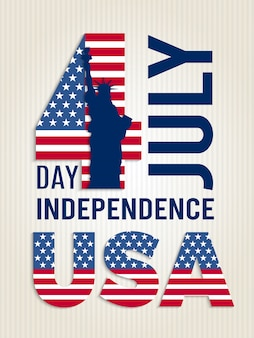 Poster for usa independence day.