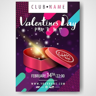 Poster of valentine's day party