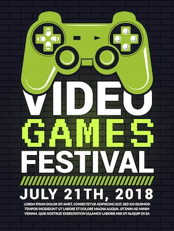 Poster of video game festival