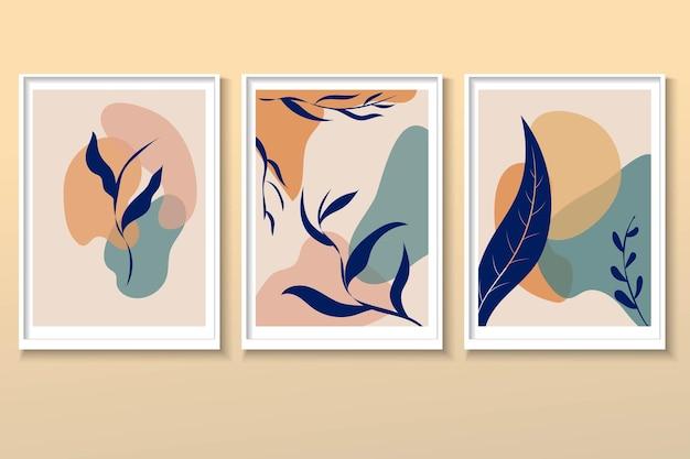 ポスター壁の装飾自然抽象的な形