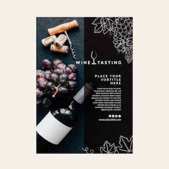 Poster wine tasting template