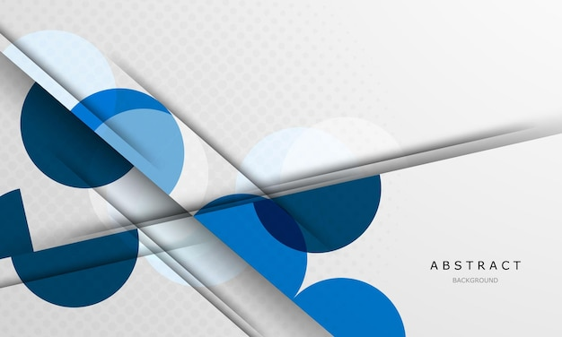 Плакат с динамическим абстрактным кругом синем фоне.