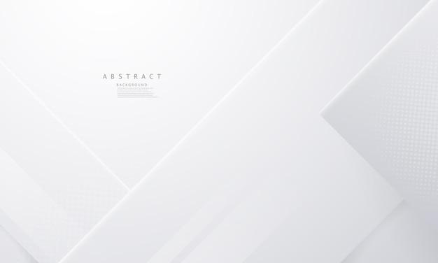 Плакат с абстрактным белым фоном и динамической технологической бизнес-сети иллюстрация в векторном формате.