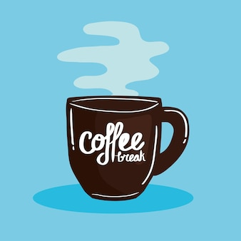一杯のコーヒーとポスター