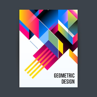 Poster with geometric desig