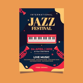 Poster with international jazz day