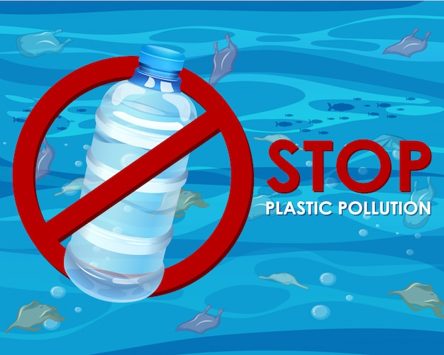 Poster with no plastic bottle