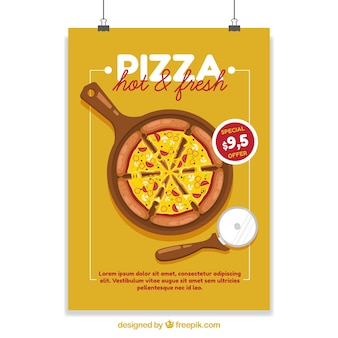 Poster with pizza discounts
