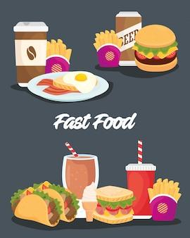 おいしい食べ物のセットのポスター