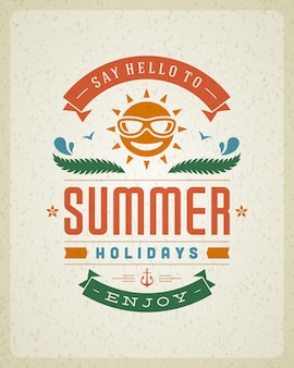 Poster with summer holidays slogan