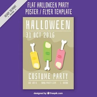 Плакат с тремя пальцами для хэллоуина