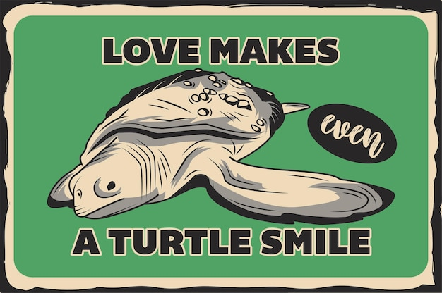 Poster with a turtle