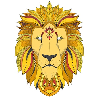 Poster with zenart patterned lion