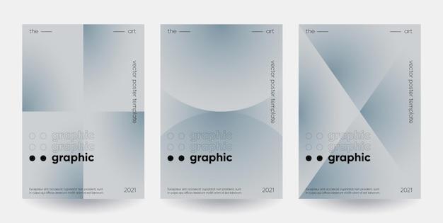 Набор плакатов с градиентными формами