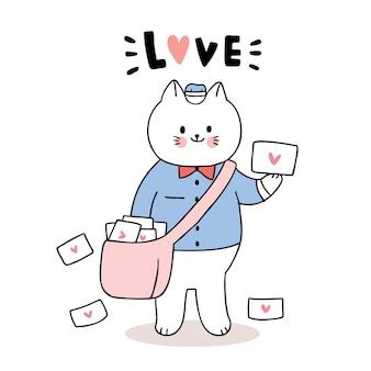 Почтальон кот и любовные письма