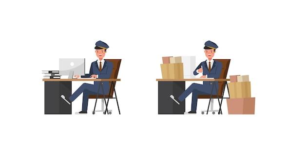 Postman character design