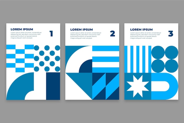 Collezione di copertine postmoderne aziendali