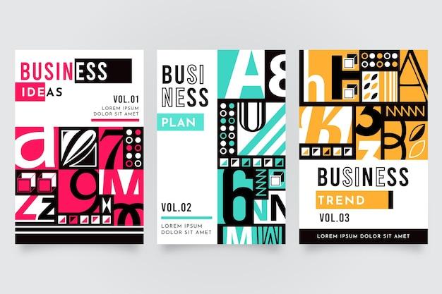 Постмодернистский деловой набор обложек