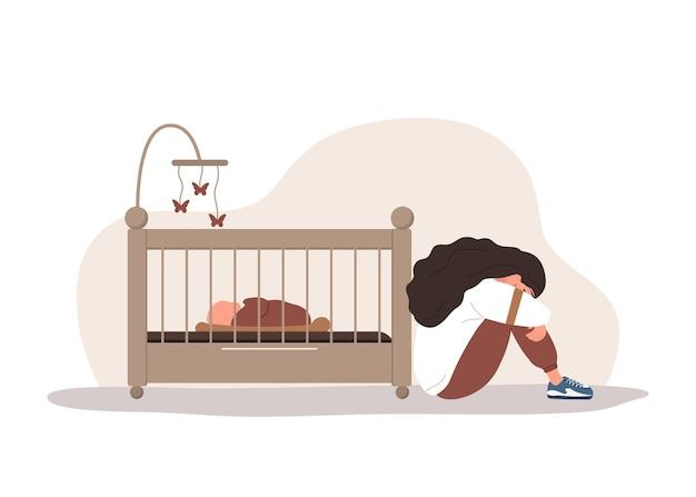 産後うつ病。若い母親は心理的な助けが必要です。