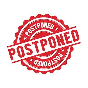 Postponed sign concept