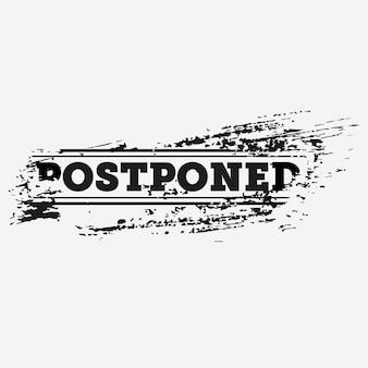 Postponed stamp concept