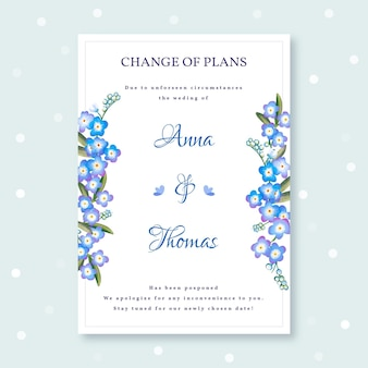 Отложенная акварельная свадебная открытка
