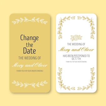 Postponed wedding announcement for smartphone format