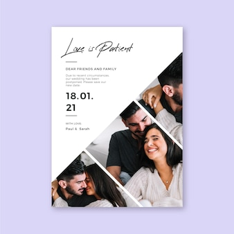 Отложенная концепция свадебной открытки