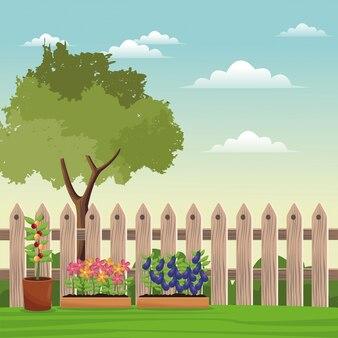 Полевой забор по дереву