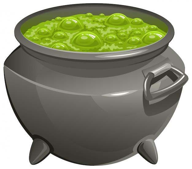 Pot with green magic potion